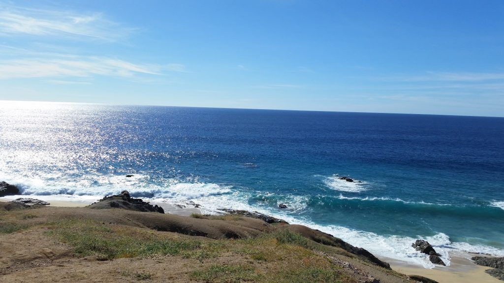 One of our ATV tour stops. During the summer you can see whales come to the surface of the water